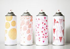 decorated spray paint bottles