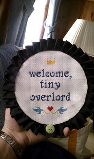 hahaha! pattern and kit from Subversive Cross Stitch $12 to $20 #baby. Would make a cute gift for the crafty and/or fantasy fan parent!