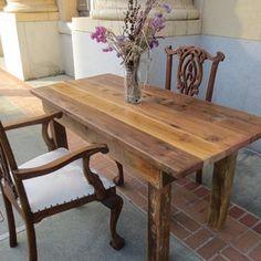 6' Barnwood Table custom made by design by david