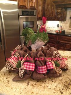 Rooster Centerpiece By ADOORable Cute Creations Https://www.facebook.com/