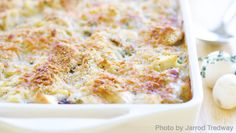 Chicken Tetrazzini. Made this several times; it's always a crowd pleaser! Also a good one to bring new moms : )