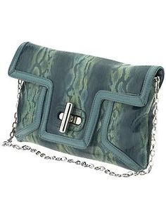 SR Squared by Sondra Roberts Kaleidoscope Patent Snake Clutch | Piperlime