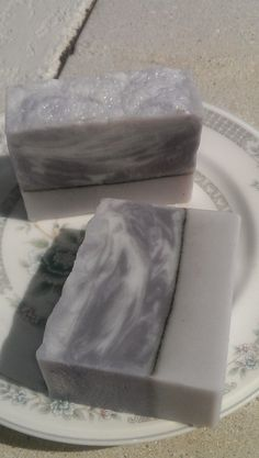 Lavender Soap with ground lavender pencil line. No recipe just picture