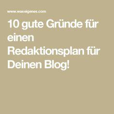 10 gute Gründe für einen Redaktionsplan für Deinen Blog!