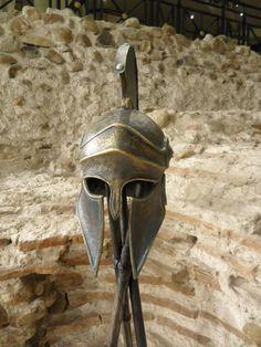 Armadura griega casco corintio antiguo por BirdArtBulgaria en Etsy