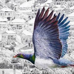 Jane Galloway, Artist Nz Art, New Zealand, Bird, Art Ideas, Paintings, Animals, Culture, Artists, House