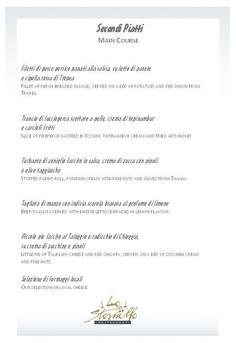 A la carte - Main course Romantic Dinners, Cards