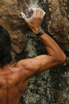 strong, rock climbing, fitness, muscle, ripped!
