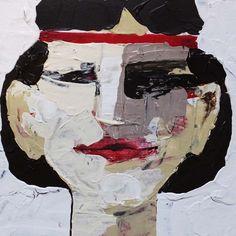 Prägung, (Portrait #0018), 20 x 20 cm, Acryl auf der HDF-Malplatte, 2016