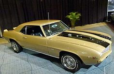 1969 Chevrolet Camaro coupe Z/28 302 cid 290 horsepower DZ small block 4 speed transmission in Olympic Gold