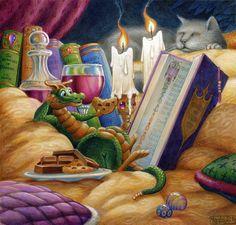 Curl Up with a Good Book, limited edition,