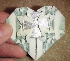 Don't like the basket? Try this origami heart. | 19 Insanely Clever Tooth Fairy Ideas Your Kid Will Never Forget