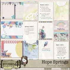 Hope Springs - Journal Cards by Designworks Shabby Chic Art, Spring Studios, Never Lose Hope, Spring Projects, Spring Theme, Teal And Pink, Elements Of Art, Site Design, Project Yourself