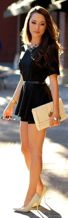 Black Little Pretty Dress and Studded Clutch Purse...