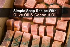 Nowadays, even basic bar soap is full of strange, caustic chemicals and perfumes. I don't need any of that. I just need something that will clean my skin and leave it feeling nice and soft. Something made with coconut or olive oil, perhaps... or both! Which is why I love this soap recipe.