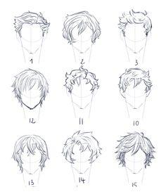Hairstyles Boy Man Text How To Draw Manga Anime Ken29147