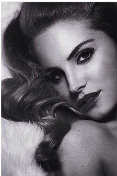 She's perf! Lana del rey. Black and white.