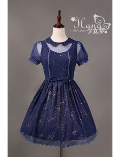 Hana ~Fantasy Constellation~ Short Sleeeves Lolita OP Dress