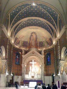 Chancel at St. Cecilia's Catholic Church.