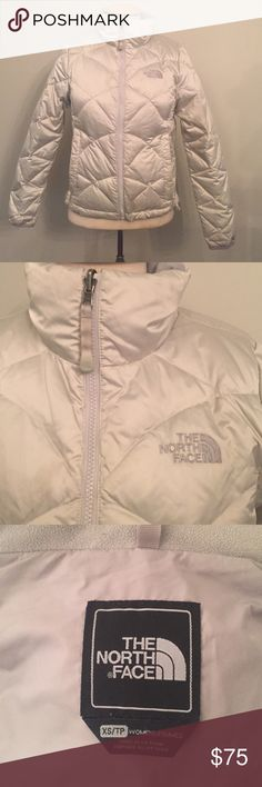The North Face Puffer Jacket (womens) This jacket is in great condition, fits comfortably and works perfectly for all winter activities! Cream/Off white, with gray interior The North Face Jackets & Coats Puffers