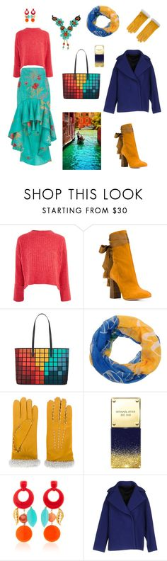 """""""прямоугольная тетрада 1"""" by niagarariver ❤ liked on Polyvore featuring Johanna Ortiz, Topshop, Chloé, Anya Hindmarch, Forever Collectibles, AGNELLE, Michael Kors, Lulu Frost and MSGM"""