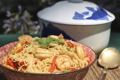 Singapore Curry Noodles | KatieChin