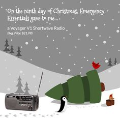 12 Days of Giveaways--Day Nine: The Kaito Voyager Dynamo Radio (include AM/FM and shortwave bands) #preparedness #gear