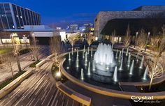 Oakbrook Center - Chicago, Illinois Photo By Crystal Fountains - 2014 Landscape Architecture, Landscape Design, Modern Water Feature, Plaza Design, Pond Design, Garden Design, Landscape Materials, Landscaping Supplies, Water Element