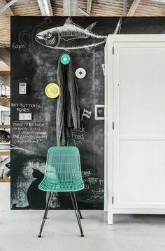 Beautiful chalk illustration | 10 Awesome Chalkboard Walls - Tinyme Blog