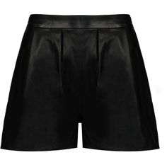 8 Shorts ($128) ❤ liked on Polyvore featuring shorts, bottoms, black, highwaist shorts, high-rise shorts, leather shorts, high rise shorts and high waisted shorts