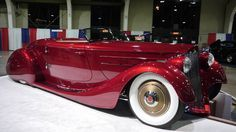 """2017 AMBR winner """"Mullholland Speedster"""" 1936 Packard 1401 Coupe with Lincoln flathead V-12 - paint is called Mullholland Merlot..Beep Beep...Re-pin brought to you by agents of #ClassicCarinsurance at #HouseofInsurance in #Eugene/Springfield Or."""
