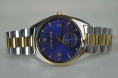 Michael Kors Damenuhr Uhr MK3343 Gold Silber Navy UVP: 249