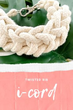 How to knit twisted rib i-cord.