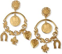 DOLCE & GABBANA Gold Earrings - Lyst