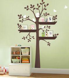 Wall Decals Nursery - The Original Shelving Tree Wall Decal - Nursery Decor Tree Decals, Kids Wall Decals, Nursery Wall Decals, Vinyl Wall Stickers, Wall Decal Sticker, Wall Vinyl, Nursery Wallpaper, Deco Kids, Baby Nursery Decor