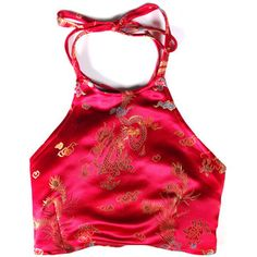 Lotus Halter Top - Red by Valfre