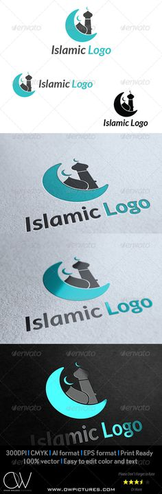 Islamic Logo  #GraphicRiver                               Logo Description: Islamic Logo can be used in commercial and industrial companies , Organization, Culture club, bank, cargo, airlines, university, institute, collage, training center, scientific laboratories, as well as it can be used in the fields of sports and news, the logo symbolizes the speed of delivery,