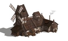 ArtStation - the house in middle age , Hui-Won Park