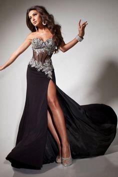 Buy 2013 Prom Dresses Mermaid Trumpet Floor Length Black Sweetheart Chiffon Rhinestone PX7R6LQK On line