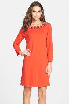 purr -- Embellished Ponte A-Line Dress  -- http://www.hagglekat.com/embellished-ponte-a-line-dress/
