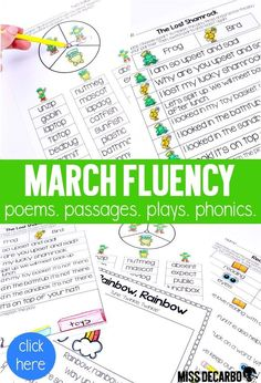 Filled with passages, poems, phonics spinners, and partner plays for a jam-packed month of fluency practice! Fluency Activities, Classroom Solutions, Fluency Practice, Readers Theater, Great Schools, Reading Fluency, Primary Classroom, Comprehension, Phonics
