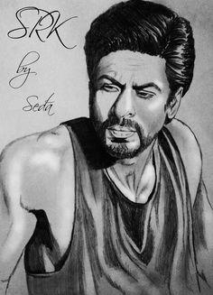 SRK art by fan
