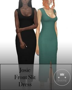 Josie's Front Slit Dress at Simply King • Sims 4 Updates