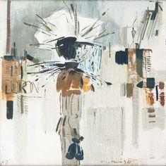 NETÍK MIROSLAV *1920 Dáma s deštníkem, 1975 Auction, Abstract, Artwork, Work Of Art