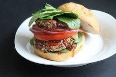 <p>High protein burgers with a kick! These burgers contain black beans and hemp seeds and are seasoned with smoked paprika, garlic and a pinch of cayenne.</p>