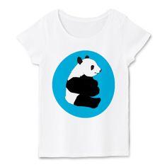 パンダTシャツfoolのオリジナルパンダTシャツ   デザインTシャツ通販 T-SHIRTS TRINITY(Tシャツトリニティ) fooldesignのオリジナル動物Tシャツシリーズのパンダのシンボル★ 水色と白、黒がマッチしてピュアなイメージも。 とっても可愛いパンダグッズはいかが?