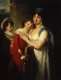 1799 The Athenaeum - Portrait of Anna Muravyova-Apostol with Her Son and Daughter (Jean Laurent Mosnier - )