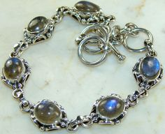 Labradorite  bracelet designed and created by Sizzling Silver. Please visit  www.sizzlingsilver.com. Product code: BR- 7695