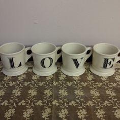 """""""love"""" mugs"""