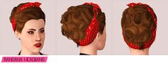 ROSIE ¡Hola friends! So I'm trying to get more familiar with hair meshing. This rockabilly updo comes with and without bangs and is available for females, teen—elder. The bandana accessories were...